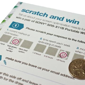 Custom Printed Scratch Cards