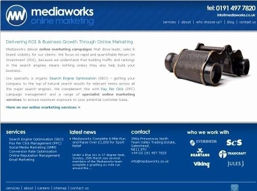 https://www.mediaworks.co.uk/ website