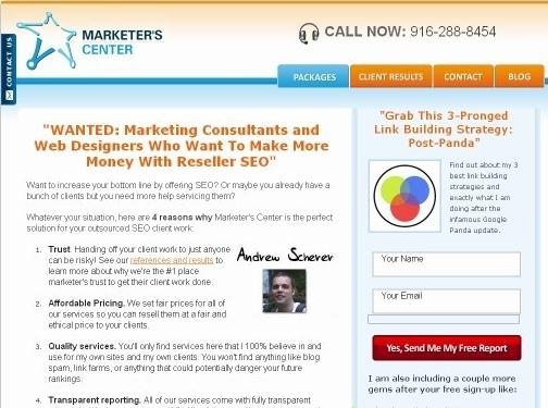 https://www.marketerscenter.com website