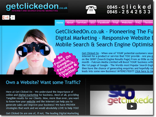 https://getclickedon.co.uk website