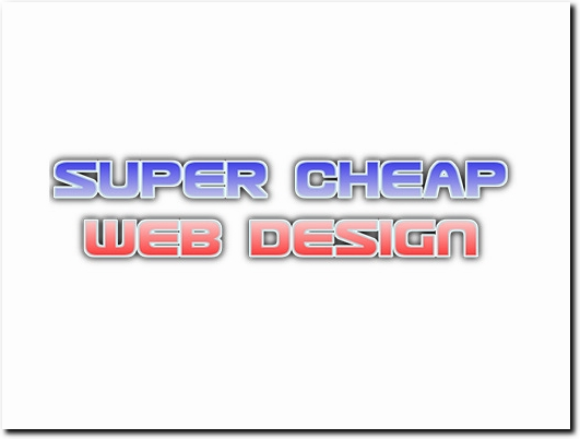 http://supercheapwebdesign.com website