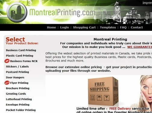 https://www.montrealprinting.com/ website