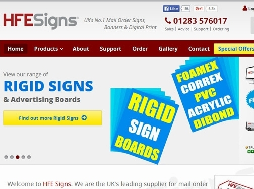 https://www.hfe-signs.co.uk/ website