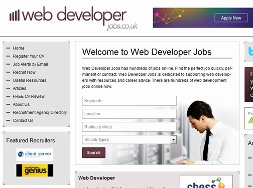 http://www.webdeveloperjobs.co.uk/ website